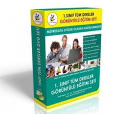 İlköğretim 1. Sınıf Tüm Dersler Görüntülü Eğitim Seti