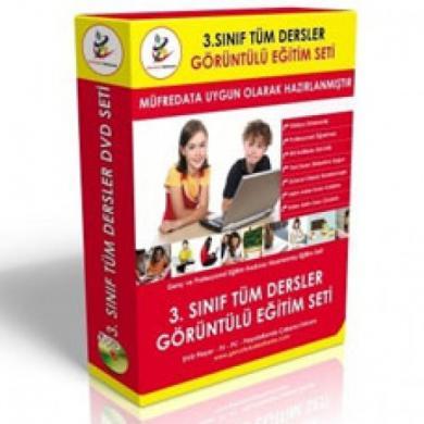 İlköğretim 3. Sınıf Tüm Dersler Görüntülü Eğitim Seti