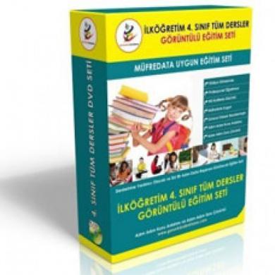 İlköğretim 4. Sınıf Tüm Dersler Görüntülü Eğitim Seti