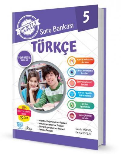 Gendaş Etkili Soru Bankası 5.Sınıf Türkçe (2019 Yeni Müfredat )