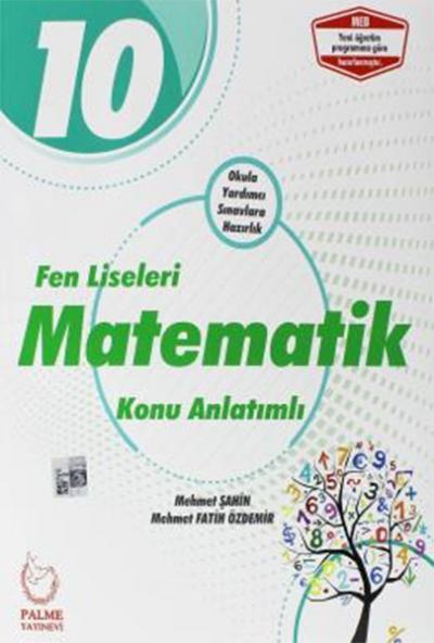 Palme 10.Sınıf Fen Liseleri Matematik Konu Anlatımlı Yeni