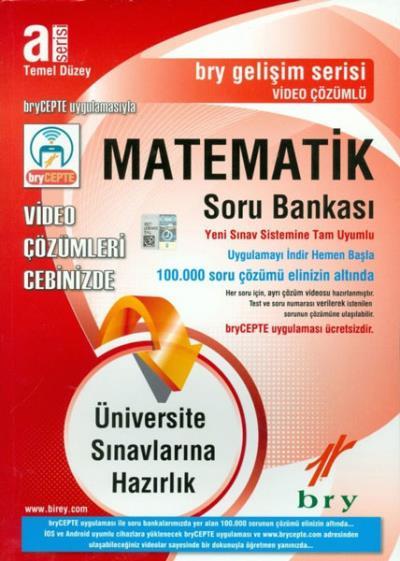 Birey A Serisi Temel Düzey Matematik Video Çözümlü Soru Bankası Gelişim Serisi-YENİ