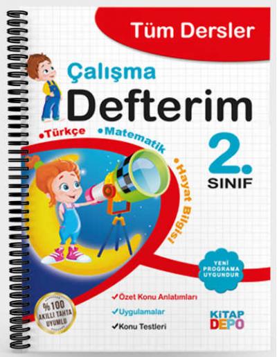 2.Sınıf Tüm Dersler Çalışma Defterim Kitap Depo Yayınları