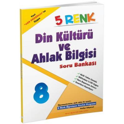 5 Renk Din Kültürü ve Ahlak Bilgisi Soru Bankası 8. Sınıf