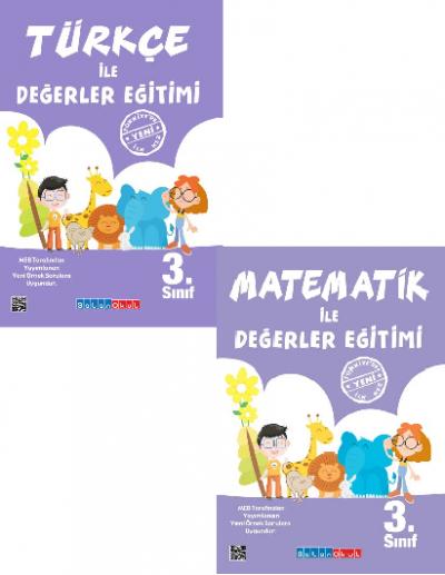 3.Sınıf Türkçe ile Değerler Eğitimi + Matematik ile Değerler Eğitimi %