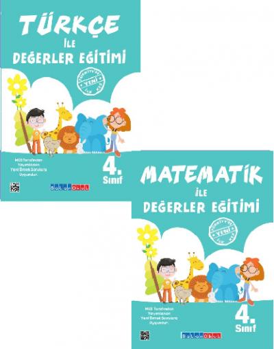 4.Sınıf Türkçe ile Değerler Eğitimi + Matematik ile Değerler Eğitimi %