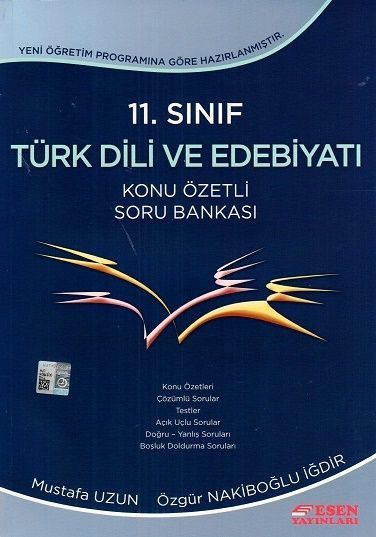 Esen 11. Sınıf Türk Dili ve Edebiyatı Konu Özetli Soru Bankası
