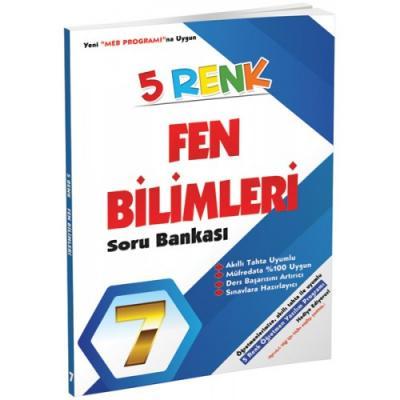 5 Renk Fen Bilimleri Soru Bankası 7. Sınıf