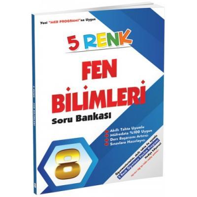 5 Renk Fen Bilimleri Soru Bankası 8. Sınıf