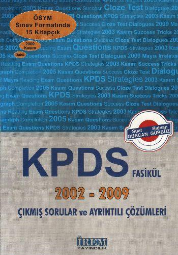 İrem Kpds Fasikül 2002-2009 Çıkmış Sorular