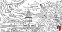 Istanbul Tablo Boyama Serisi 6 Kiz Kulesi Ogan Kandemiroglu