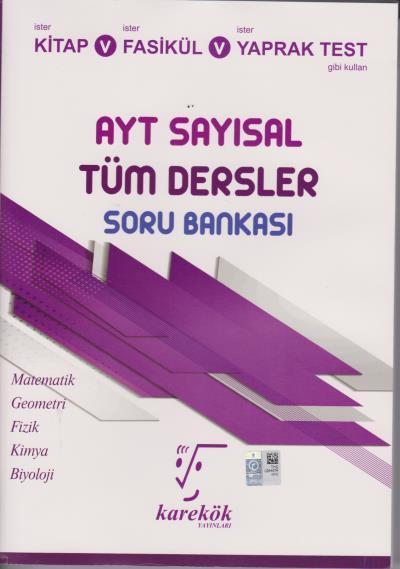Karekök AYT Sayısal Tüm Dersler Soru Bankası