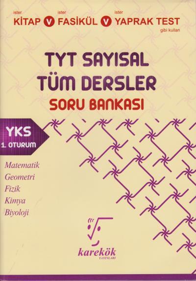 Karekök TYT Sayısal Tüm Dersler Soru Bankası 1. Oturum