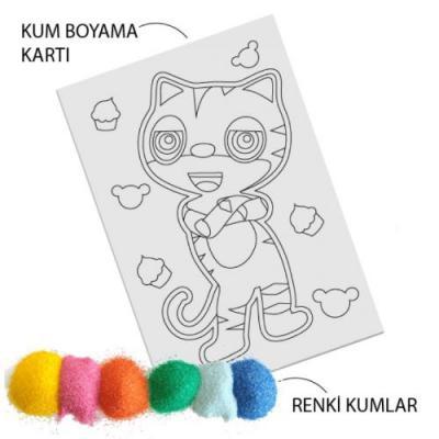 Kedi Kum Boyama 30 Indirimli