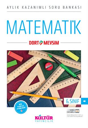 Kültür Yayıncılık 6 Sınıf Dört Mevsim Matematik Soru Bankası