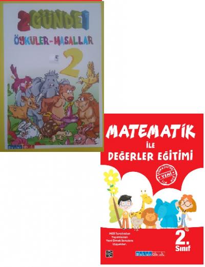 2.Sınıf Türkçe ile Değerler Eğitimi + Matematik ile Değerler Eğitimi %