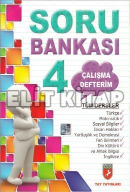 Tay Yayınları 4. Sınıf Tüm Dersler Soru Bankası Çalışma Defterim %67 i