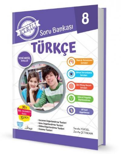 Gendaş Etkili Soru Bankası 8.Sınıf Türkçe (2019 Yeni Müfredat ) %25 in