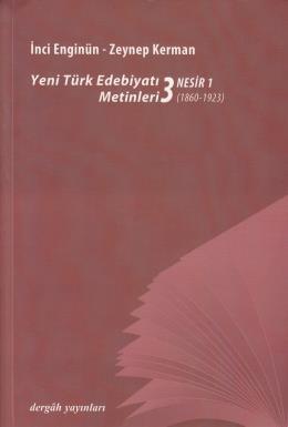Yeni Türk Edebiyatı Metinleri 3 Nesir 1
